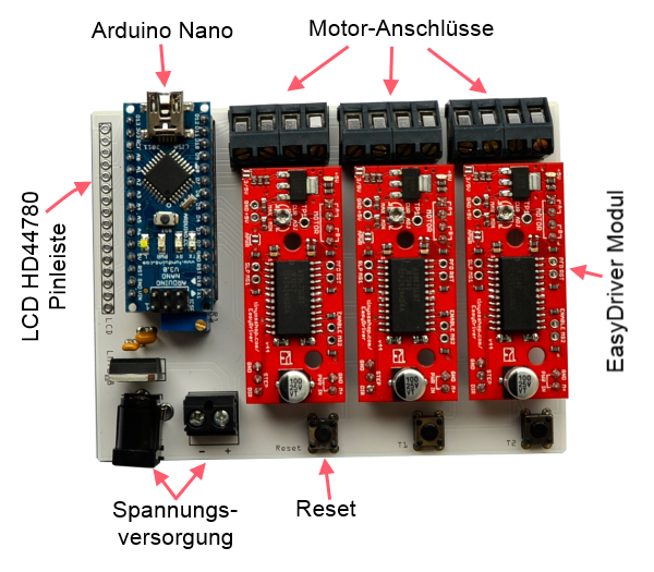 easydriver board motorsteuerung mit arduino nano ebay. Black Bedroom Furniture Sets. Home Design Ideas